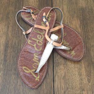 Sam Edelman Sandals with Gold T Accent - Sz 9M